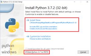 Pythonのインストール2