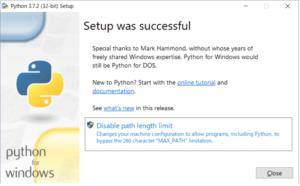 Pythonインストール3